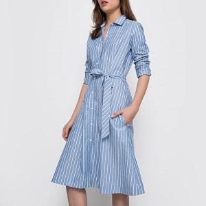 Ριγέ Φόρεμα