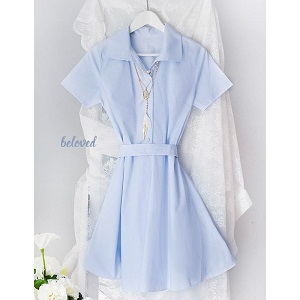 SOFIE BABY BLUE DRESS