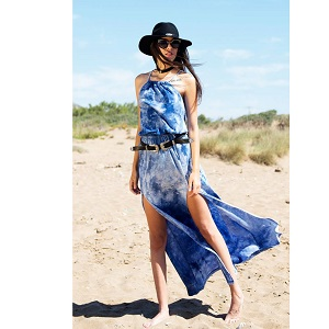 Tie Dye Cut Out Maxi Φόρεμα