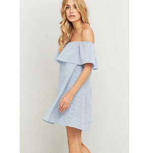 MINKPINK - FRENCH TWIST OFF THE SHOULDER DRESS