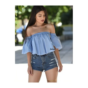 CARMEN BLUE TOP