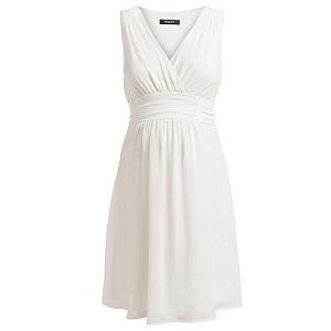 Λευκό αμάνικο φόρεμα εγκυμοσύνης