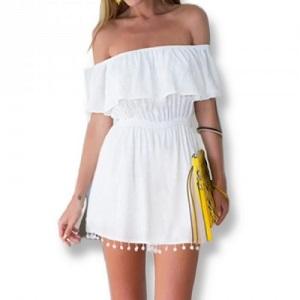 Στράπλες Mini Φόρεμα