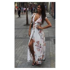Floral  Maxi dress White