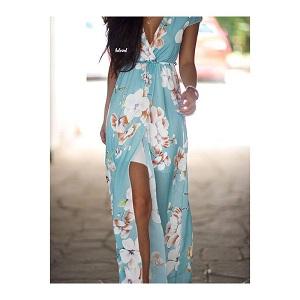 Floral  Maxi dress Blue