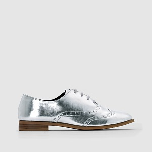 Metallic Silver loafers