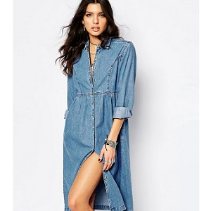 Shirt dress Midi