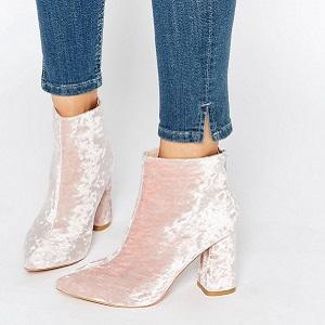Velvet Boots Baby Pink