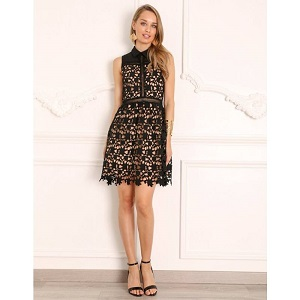 DONNA BLACK LACE DRESS