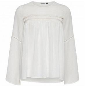 Λευκό πουκάμισο με δαντέλα