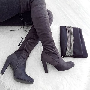 OVER KNEE SUEDE BOOTS