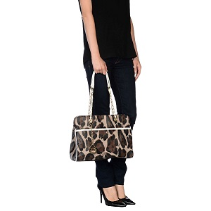 Τσάντα animal print  SECRET PON-PON