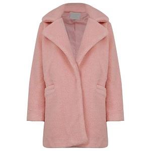 Παστέλ ροζ παλτό
