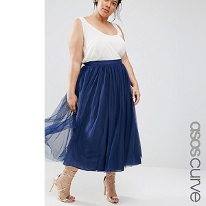 ASOS CURVE Tulle Prom Skirt With Multi Layers