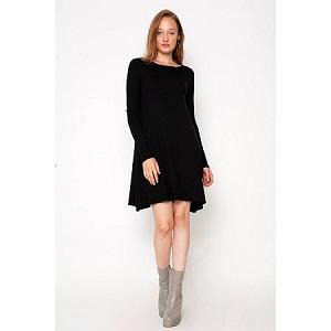 Rib Detail Knit Φόρεμα