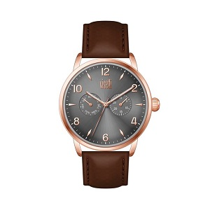 VISETTI Urban Legend Rose Gold Brown Leather