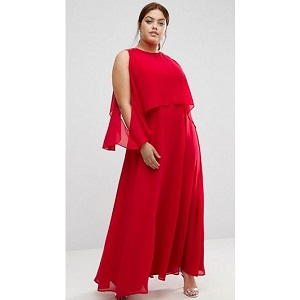 ASOS CURVE Extreme Cold Shoulder Maxi Dress