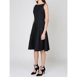 Αμάνικο Φόρεμα σε Ανάγλυφο Ύφασμα- Μαύρο