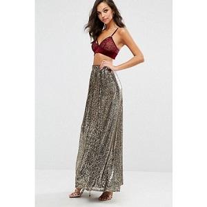 Boohoo Sequin Maxi Skirt