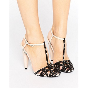 Little Mistress Embellished Caged Heel WITH aNKLE Strap