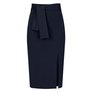 Pencil φούστα με ενσωματωμένη ζώνη