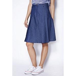 Τζίν φούστα με πιέτες