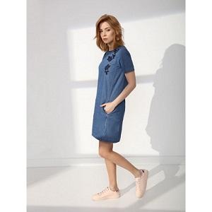 top secret τζιν φορεμα με κεντημα