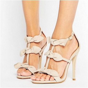 Public Desire Bow Heeled Sandals