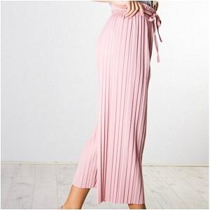 Πλισέ ροζ zip-culotte