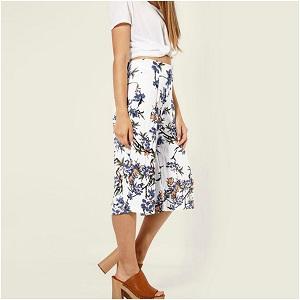 Floral Zip-culotte