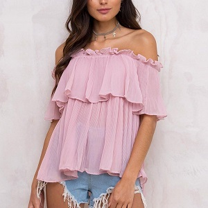 DOLORES PINK BLOUSE