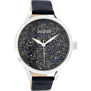 OOZOO Timepieces Blue Leather Strap