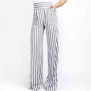 Moutaki παντελόνα ριγέ ψηλόμεση
