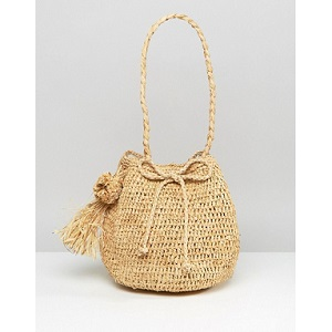 Hat Attack Straw Bucket Bag