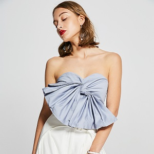 Off-Shoulder Bow Crop Top