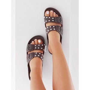 CACATOÈS SANDALS STUDDED GREY