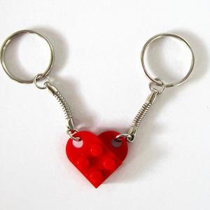Μπρελόκ καρδιά από τουβλάκια