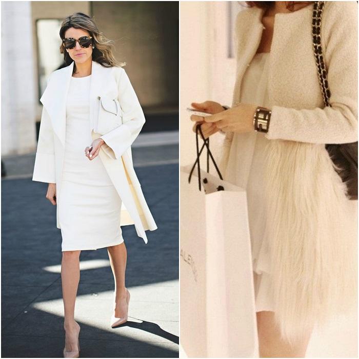 5ac81785a9ac Μπορούμε να το φορέσουμε αρχικά με μπεζ ή εξίσου λευκό πανωφόρι και γόβες  σε nude ή ταμπά αποχρώσεις