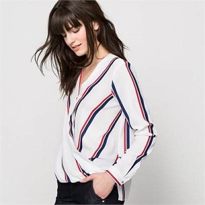 La Redoute-striped blouse