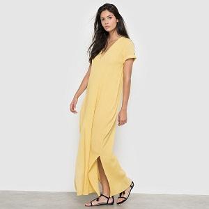 Κίτρινο  φόρεμα maxi