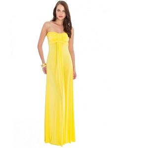 Κίτρινο  maxi strapless