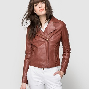 Biker jacket Κεραμιδί