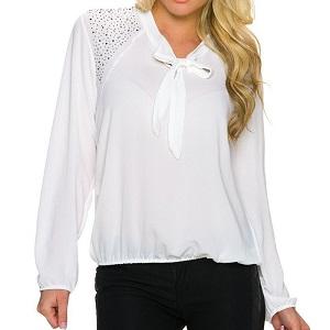 Λευκό πουκάμισο με φιόγκο