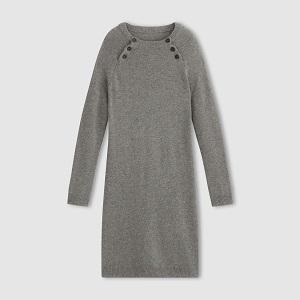 Πλεκτό φόρεμα γκρι