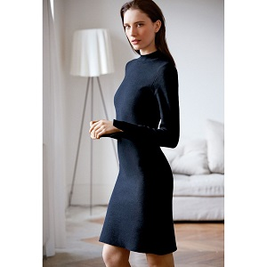 Πλεκτό φόρεμα μαύρο