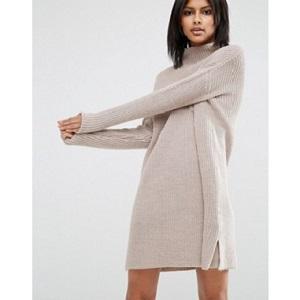 Dress In Rib Knit
