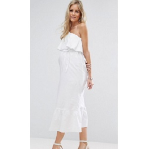 ASOS Maternity Maxi Dress with One Shoulder