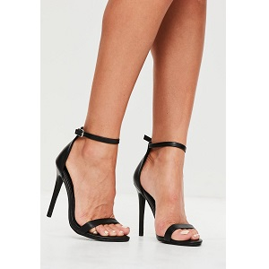black 2 straps barely there sandals