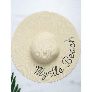 2bd75438ff Γυναικείο μπεζ στρογγυλό ψάθινο καπέλο
