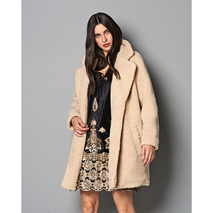 Aurelia Oversized Shearling Coat